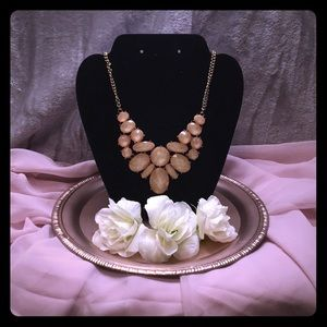 Blush Bib Necklace
